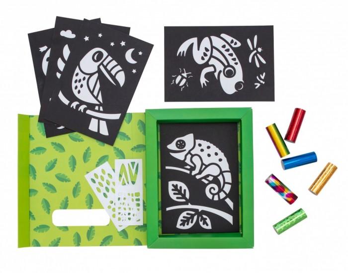 Картинка для Tiger Tribe Набор для декорирования фольгой Тропический лес