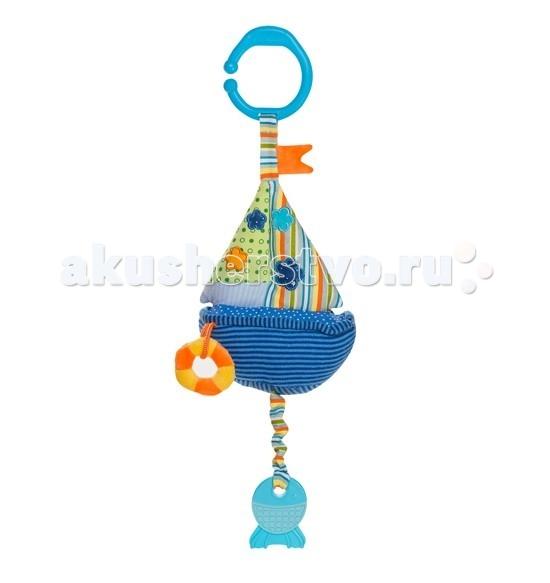 Подвесные игрушки BabyOno Кораблик со звуком воды babyono развивающая игрушка гимнастика малыша