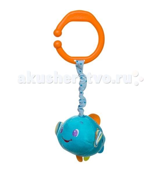 Подвесная игрушка BabyOno Рыбка с вибрацией и колокольчиком