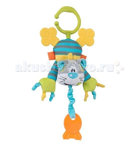 Подвесные игрушки BabyOno Котик с прорезывателем babyono развивающая игрушка гимнастика малыша