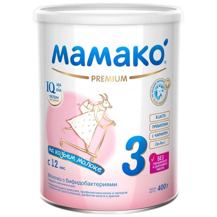 Детское питание , Молочные смеси Мамако 3 Молочная смесь на основе козьего молока 400 г арт: 66821 -  Молочные смеси