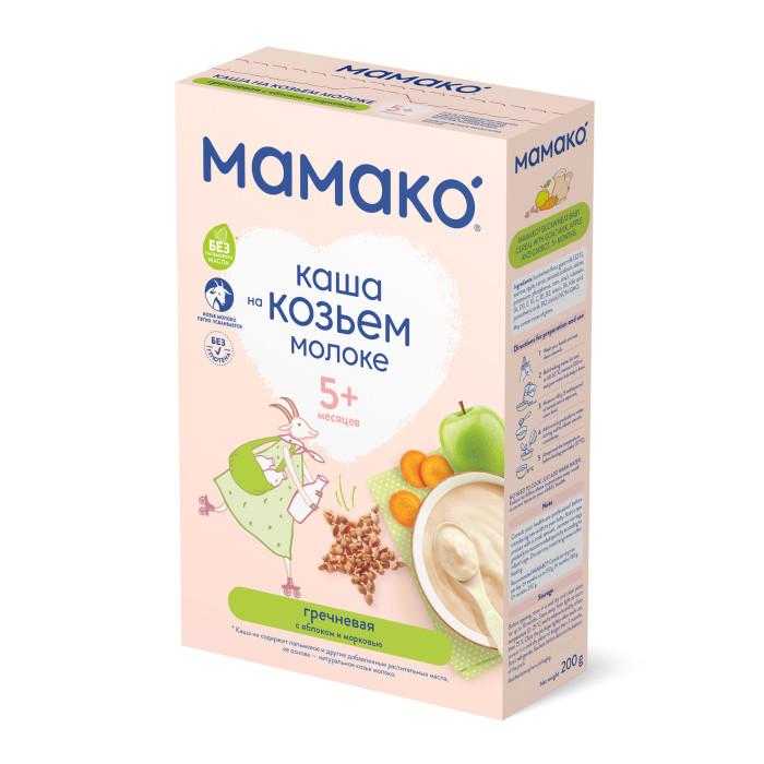 Каши Мамако Молочная гречневая каша с яблоком и морковью на козьем молоке с 4 мес. 200 г мамако каша гречневая на козьем молоке с 4 мес 2
