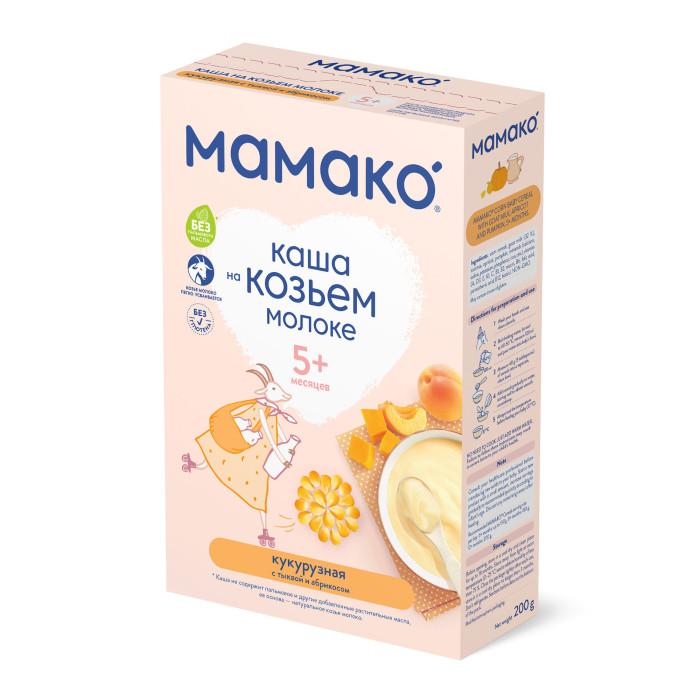 Каши Мамако Молочная кукурузная каша с тыквой и абрикосом на козьем молоке с 4 мес. 200 г mamako мамако молочная смесь на основе козьего молока 800 гр 1 с 0 мес