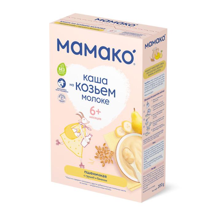 Фото Каши Мамако Молочная пшеничная каша с грушей и бананом на козьем молоке с 6 мес. 200 г