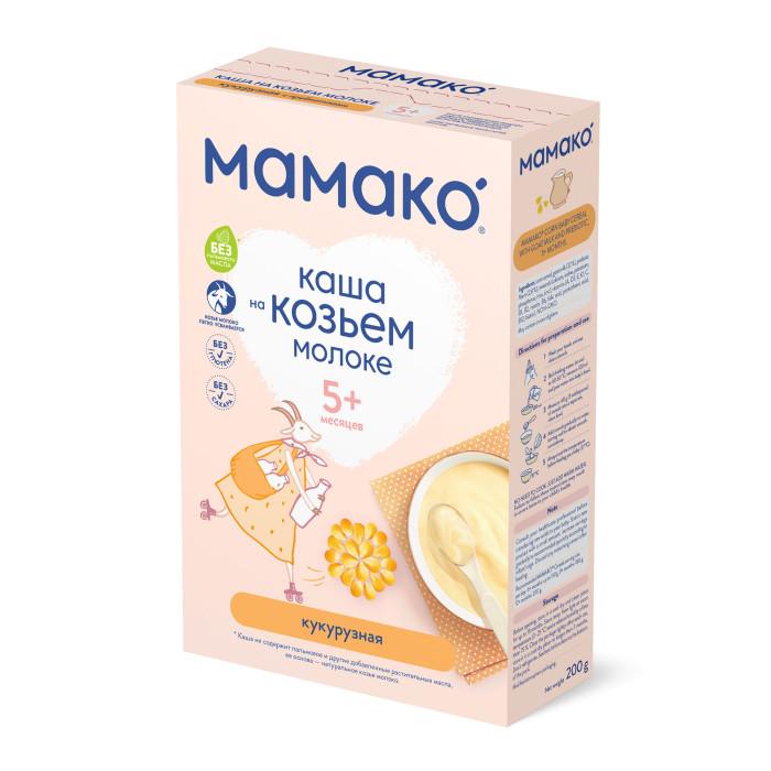 Каши Мамако Молочная кукурузная каша с пребиотиками на козьем молоке с 5 мес. 200 г каши bebi безмолочная кукурузная низкоаллергенная каша с пребиотиками с 5 мес 200 г