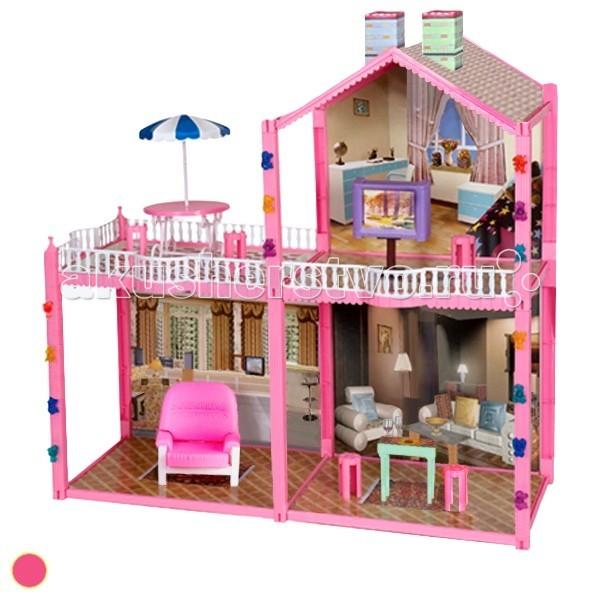 1 Toy Кукольный дом Красотка (96 деталей 4 комнаты)Кукольный дом Красотка (96 деталей 4 комнаты)Дома для кукол - одна из самых любимых игрушек у девочек!   Кукольные домики обладают широкими возможностям моделирования различных ситуаций кукольной жизни в игре.  У домиков 1 Toy Красотка отсутствует передняя стенка, что позволяет с лёгкостью расставлять мебель и мелкие игрушки внутри.   модель очень проста в сборке состоит из четырёх комнат  рассчитана на кукол размером 29 см<br>