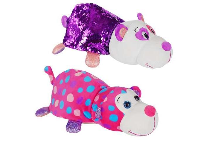 Мягкая игрушка 1 Toy Вывернушка Панда-Обезьянка Блеск с паетками 30 см