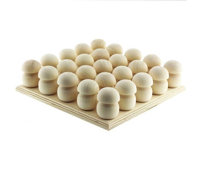 Фото - Деревянные игрушки Уланик Монтессори под раскраску Набор грибы на подставке 25 шт. деревянные игрушки уланик игра монтессори грибная поляна 25 грибочков