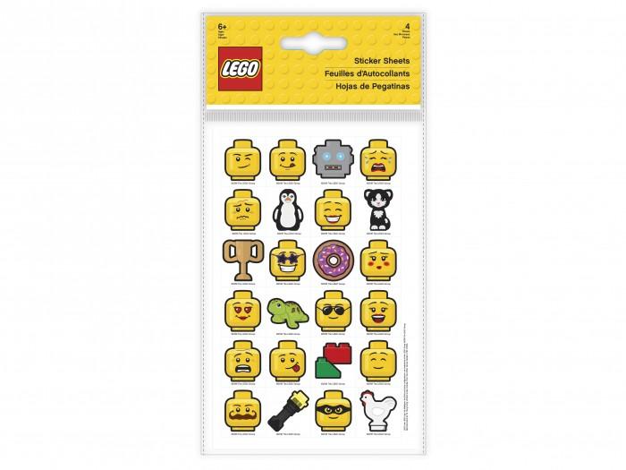 Фото - Детские наклейки Lego Набор стикеров 4 шт. lego записная книжка lego classic duck build с ручкой и мини фигурой 192 листа