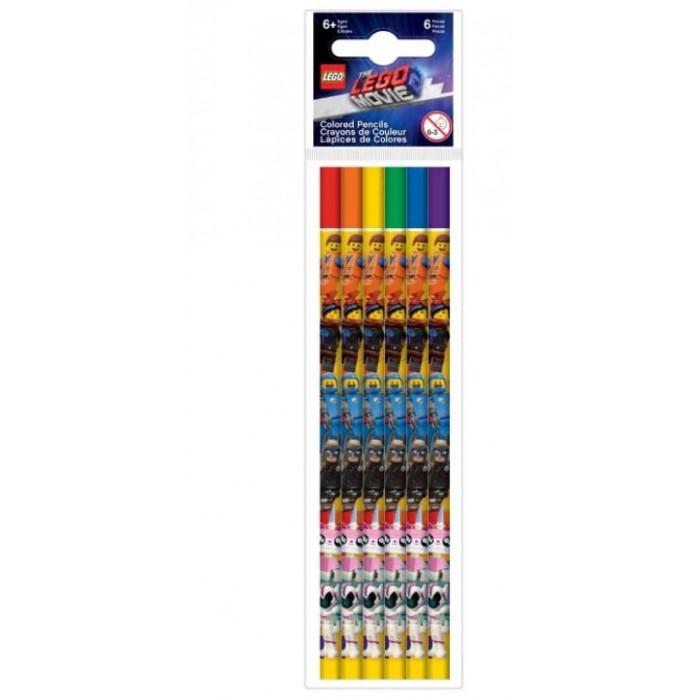 Карандаши, восковые мелки, пастель Lego Набор цветных карандашей Movie 2 6 шт.