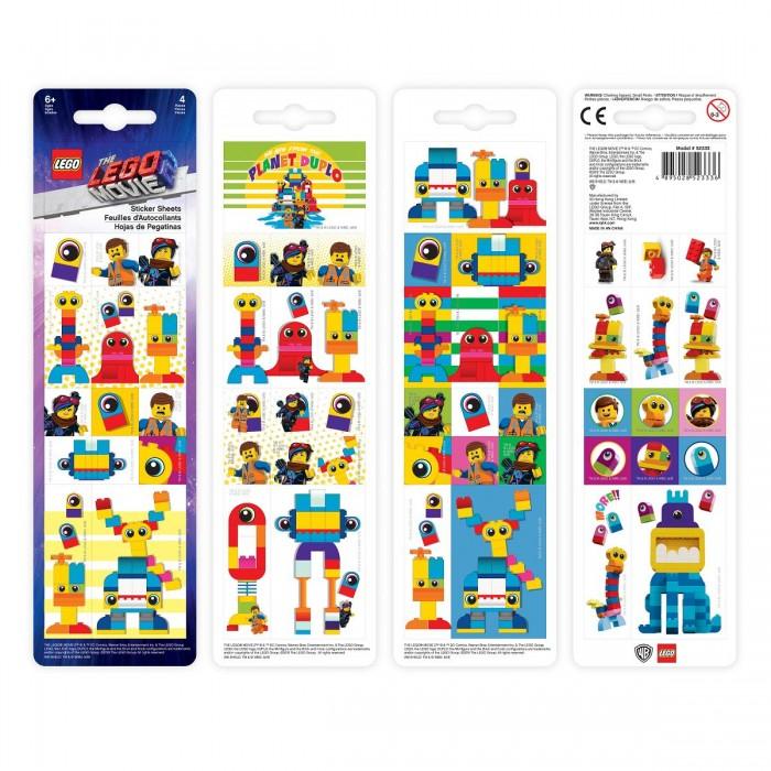 Фото - Канцелярия Lego Набор стикеров Movie 2 Duplo 4 шт. lego записная книжка lego classic duck build с ручкой и мини фигурой 192 листа