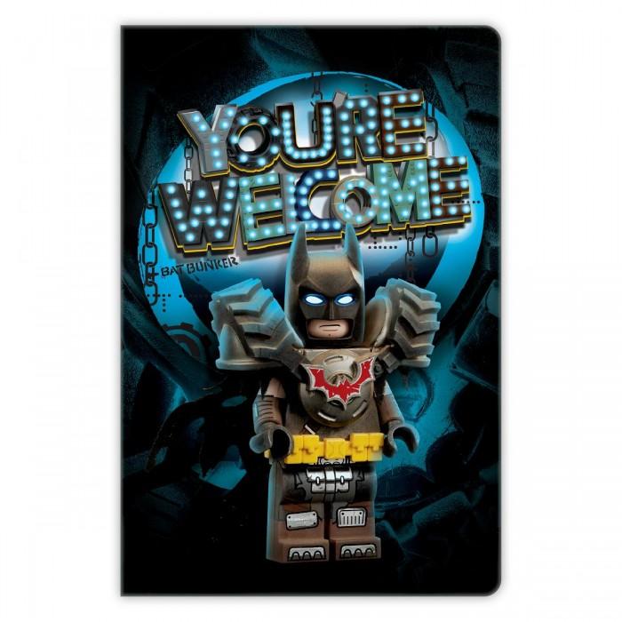 Канцелярия Lego Книга для записей Movie 2 Batman 96 листов линейка канцелярия lego набор закладок для книг batman movie batman batgirl harley quinn 3 шт