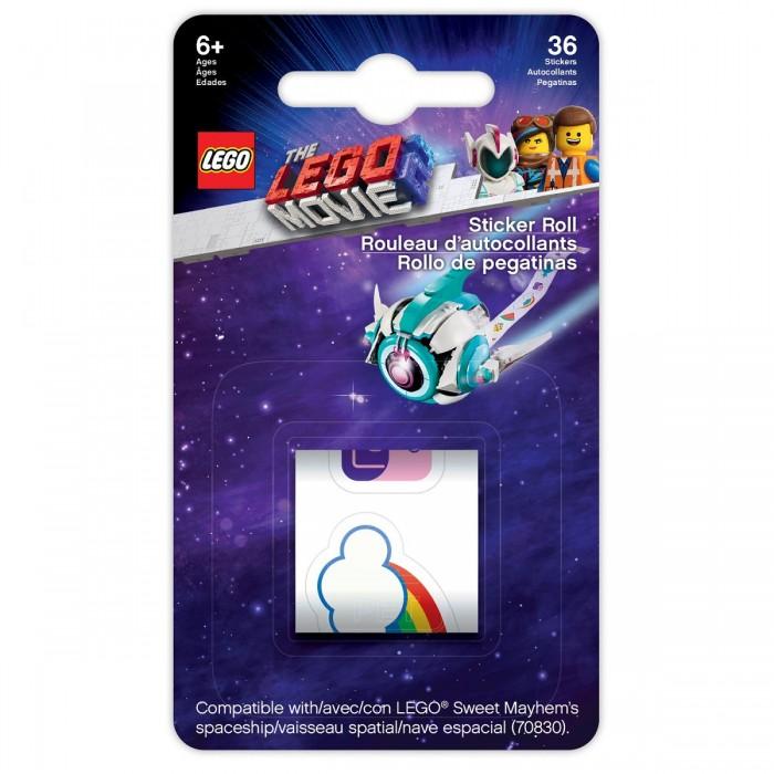 Детские наклейки Lego Набор стикеров в рулоне Movie 2 Sweet Mayhems Spaceship 36 шт. аксессуар набор площадок и 3м стикеров dicom excmt05 для gopro hero3 3 2 1