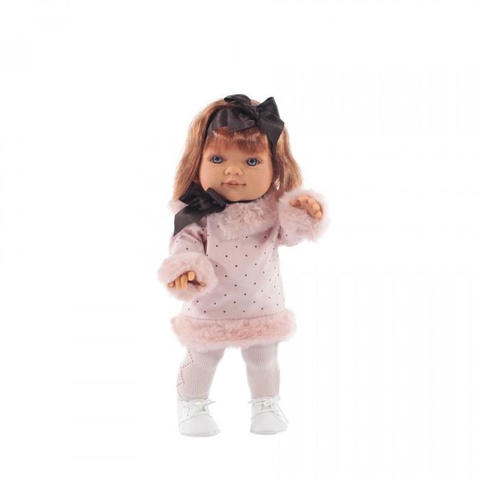 Munecas Antonio Juan  Кукла Констанция 38 смКуклы и одежда для кукол<br>Munecas Antonio Juan Кукла Констанция 38 см  Рыжеволосая малышка по имени Констанция станет главной любимицей девочек, так как невозможно не влюбится в эту маленькую красотку с забавными веснушками. Она еще и настоящая модница, ведь платьице куколки украшено меховыми вставками и дополнено белыми ботиночками.  Особенности: Эта кукла напомнит девочкам настоящую очаровательную малышку, так как тело игрушки детально проработано и даже можно рассмотреть реалистичные пальчики с ноготками на ручках и ножках Особенно правдоподобно выглядит личико Констанции с голубыми глазками в обрамлении длинных ресничек, поджатыми губками и забавным носиком с веснушками Кукла выполнена из винила, имеющего поверхность схожую по тактильным ощущениям с прикосновением к настоящей коже Малышка Констанция станет главной героиней всех игр вашей дочки, по сюжету которых кукла потребует за собой особого ухода, так как выполнит роль воображаемого ребенка девочек Помимо необычайно реалистичного внешнего вида, игрушка привлечет внимание еще и красивым нарядом в виде розового платьица с меховыми оторочками и декоративным бантиком На голове Констанции есть ярко-рыжие, надежно прошитые волосы, а на ножках одеты белые ботиночки и плотные колготки Подвижные части тела игрушки и поворачивающаяся в разные стороны голова позволяют менять позы малышки во время игры Образ куклы создан профессиональными европейскими дизайнерами, а материалы игрушки абсолютно безопасны для детей и имеют соответствующие сертификаты качества