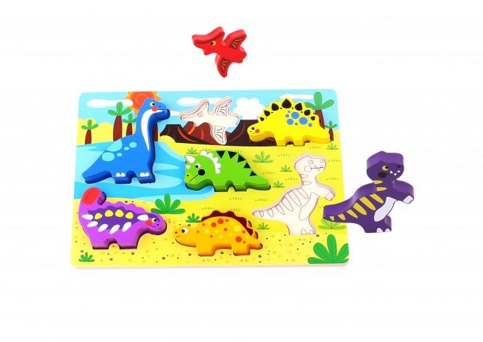 Фото - Деревянные игрушки Tooky Toy Пазл Динозавры TKC392 деревянные игрушки tau toy головоломка никитина собери квадрат 7 28х28 см