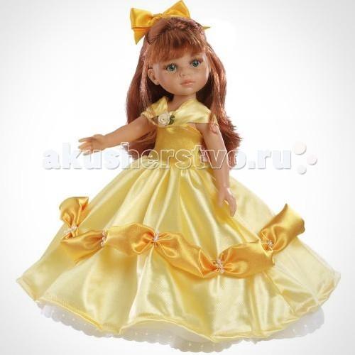 Paola Reina Кристи принцесса 32 см 04571Кристи принцесса 32 см 04571Кукла Кристи принцесса 32 см  У куклы Паола Рейна нежный ванильный аромат.  Уникальный и неповторимый дизайн лица и тела. Ручная работа (ресницы, веснушки, щечки, губы, прическа). Волосы легко расчесываются и блестят. Глазки не закрываются. Ручки, ножки и голова поворачиваются.   Качество подтверждено нормами безопасности EN71 ЕЭС.   Материалы:  - кукла изготовлена из винила - глаза выполнены в виде кристалла из прозрачного твердого пластика - волосы сделаны из высококачественного нейлона.<br>