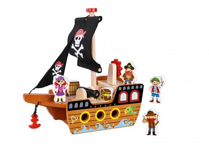 Купить Деревянная игрушка Tooky Toy Набор Пиратский корабль TKI060 в интернет магазине. Цены, фото, описания, характеристики, отзывы, обзоры