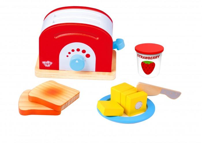 Деревянная игрушка Tooky Toy Набор Тостер