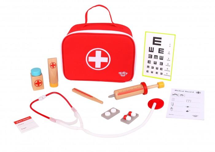 Деревянная игрушка Tooky Toy Набор Маленький доктор TKC567