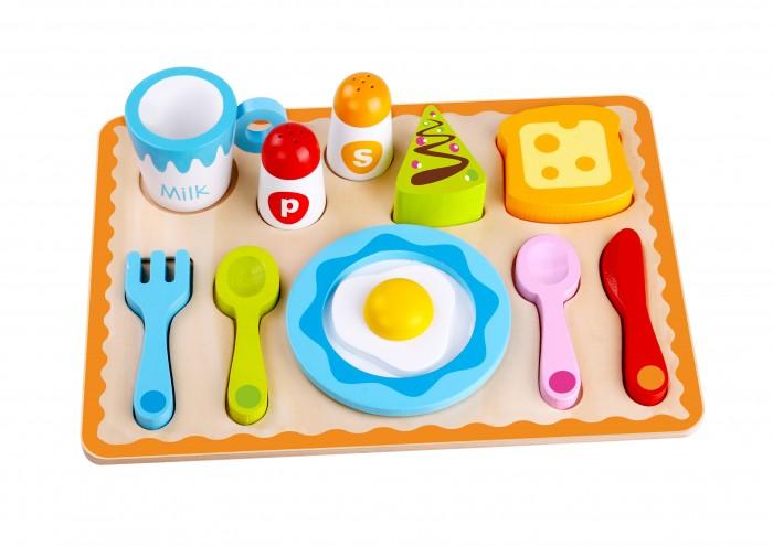 Деревянная игрушка Tooky Toy Набор Завтрак TKG041
