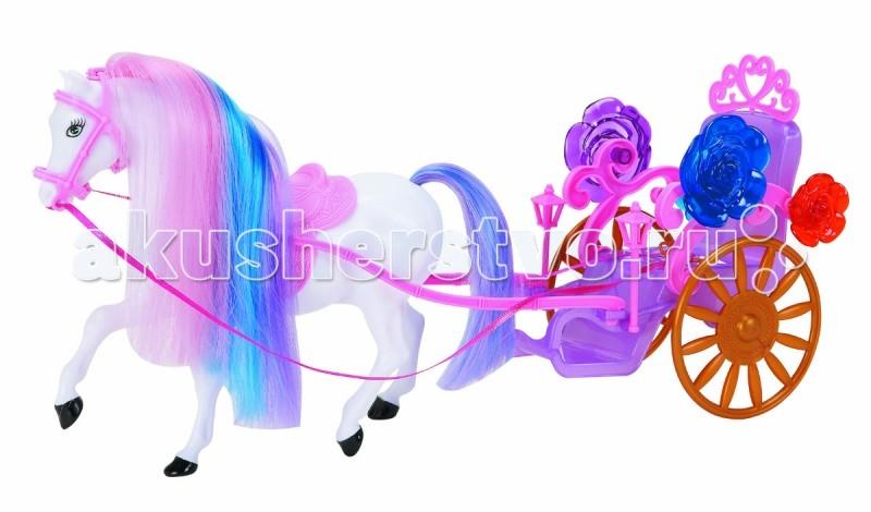 Игровые наборы 1 Toy Карета для кукол Красотка (1-местная с лошадью) 1toy 1toy карета с лошадью для кукол 1 местн т53235