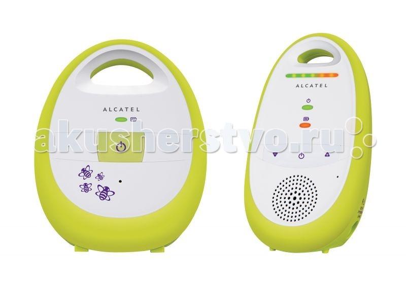 Alcatel Радионяня Baby Link 100Радионяня Baby Link 100С радионяней Alcatel Baby Link 100 – спокойствие маме обеспечено Радионяня Alcatel Baby Link 100 способна поддерживать работу двух родительских блоков, что позволяет обоим родителя наблюдать за малышом. Прибор оснащен автоматическим выбором канала. Имеет пять уровней звука. Прибор оснащен индикатором зарядка аккумулятора. Без подзарядки прибор может работать до 14 часов.  Автоматический выбор канала Радиус действия на открытом пространстве: 300 м Дальность действия в помещении: 50 м Технология DECT Автоопределение звука голоса (VOX) Пятиуровневый индикатор звука (2 красных и 3 зелёных светодиода) Поддержка до 2 родительских блоков Предупреждение о низком заряде аккумуляторов и выходе из зоны связи между блоками Питание приемника: 2xAAA NiMH перезаряжаемые Время работы: до 14 часов  Родительский блок Регулировка громкости Индикация разрыва связи Индикация батареи Источник питания родительского блока: аккумулятор Вид элементов питания родительского блока: ААА - 2 шт Крепление родительского блока: на пояс,настольное  Детский блок Вид передаваемого сигнала аудио Подключение дополнительных приемников Регулировка чувствительности приема авто Вид элементов питания детского блока: от сети 220В Установка детского блока: настольная   Габариты и вес в упаковке Ширина 200 мм Высота 300 мм Глубина 200 мм Вес 1 кг<br>
