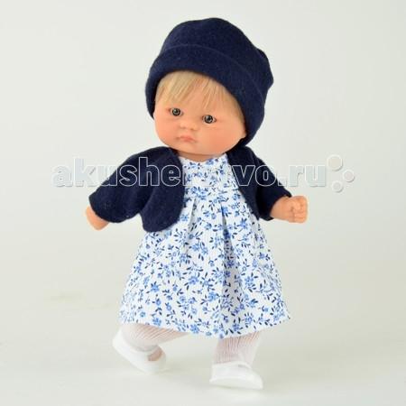 ASI Пупсик 20 см 111740Пупсик 20 см 111740Кукла ASI Пупсик, выполнен из высококачественного винила, с короткими светлыми волосами, надежно прошитыми, в летнем платьице в мелкий синенький цветочек, темно-синей кофточке и такой же шапочке, белых колготках и туфельках.  Кукла станет отличным подарком вашему ребенку.  Особенности: Пупсик ASI сделан очень качественно.  Без запаха.  Производство Испания. Используется безопасный твердый винил.  Видна прорисовка мельчайших подробностей тела, рук и ног.<br>