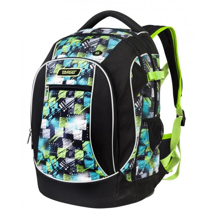Target Collection Рюкзак легкий YoШкольные рюкзаки<br>Target Collection Рюкзак легкий Yo предназначен для старших классов.   Он очень вместительный, легкий и выполнен из высококачественного материала. Оснащен тремя большими отделениями, на внешней стороне рюкзака расположен карман на молнии. По бокам имеются два кармана на резинке. Плечевые лямки можно отрегулировать, плотная тканевая ручка в верхней части рюкзака. Светоотражающий материал присутствует на передней, боковой и задней частях рюкзака и обеспечивает видимость в 360 градусов. Специальная система циркуляции сделана из 3D сетки, что позволяет воздуху циркулировать между задней стенкой рюкзака и спиной школьника. Рюкзак оснащен держателем для брелка с ключами, а так же предусмотрен вывод наушников. Съемный дополнительный поясничный пояс и усиленное дно.   Размер: 45 х 30 х 22 см.  Объем: 30 литров.