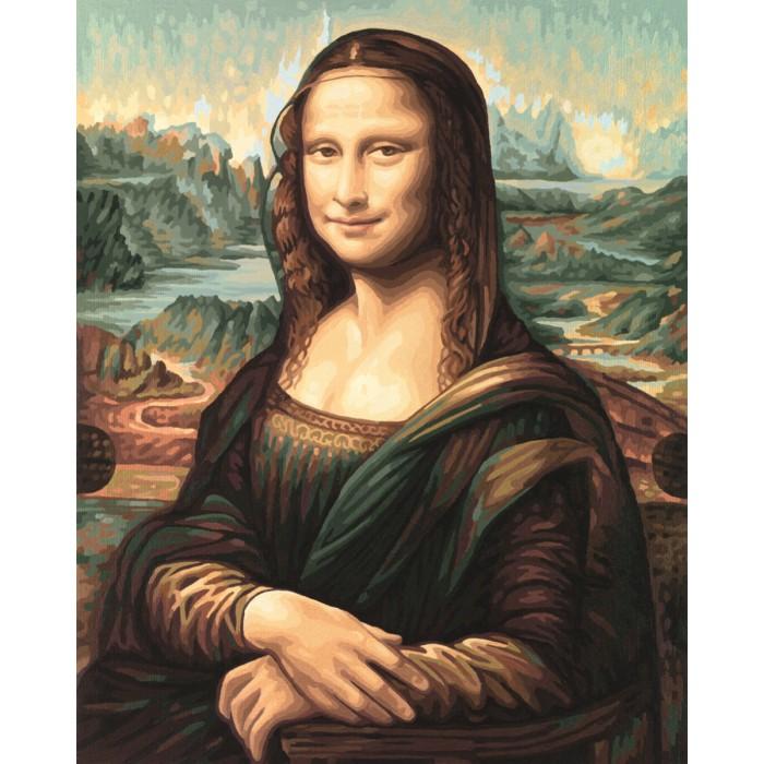 Schipper Картина по номерам Мона Лиза (Леонардо да Винчи) 50х40 смКартина по номерам Мона Лиза (Леонардо да Винчи) 50х40 смКартина по номерам Schipper репродукция Мона Лиза Леонардо да Винчи   Особенности:    Основа для картины имеет льняную структуру, поэтому готовая картина выглядит как настоящее произведение искусства.  Картина раскрашивается без смешивания красок.  Все необходимые цвета красок есть в комплекте. Просто закрашивайте участки красками с соответствующим номером.  В набор также входит фактурная картонная основа с пронумерованными контурами, кисть и контрольный лист, на котором вы можете потренироваться, прежде чем переходить к раскрашиванию основного листа.  Акриловые краски в данном наборе содержатся в очень плотно закрытых контейнерах. Благодаря этому, краски доходят до покупателя, сохранив свои свойства.   Кол-во цветов: 30 Размер: 50х40 см<br>