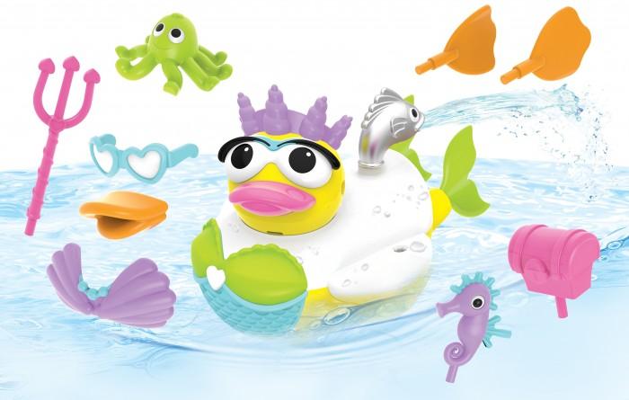 Купить Игрушки для ванны, Yookidoo Игрушка водная Утка-русалка с водометом и аксессуарами