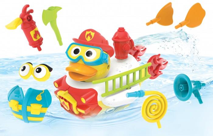 Купить Игрушки для ванны, Yookidoo Игрушка водная Утка-пожарный с водометом и аксессуарами