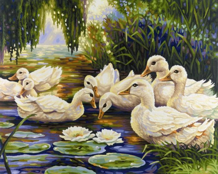 Творчество и хобби , Картины по номерам Schipper Картина по номерам Утки на пруду (Александр Коестер) 50х40 см арт: 67170 -  Картины по номерам