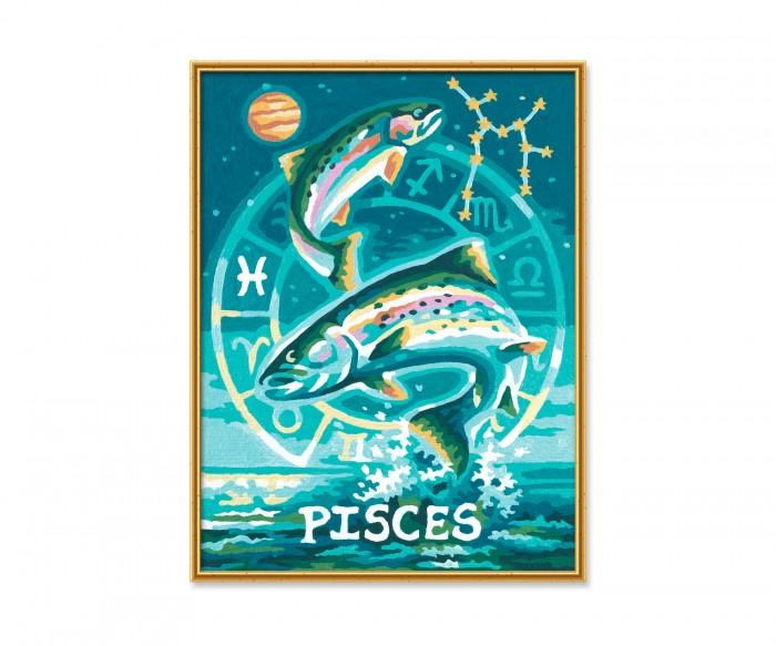 Картины по номерам Schipper Картина по номерам Знак Зодиака Рыбы 18х24 см раскраска schipper знаки зодиака скорпион 9390679