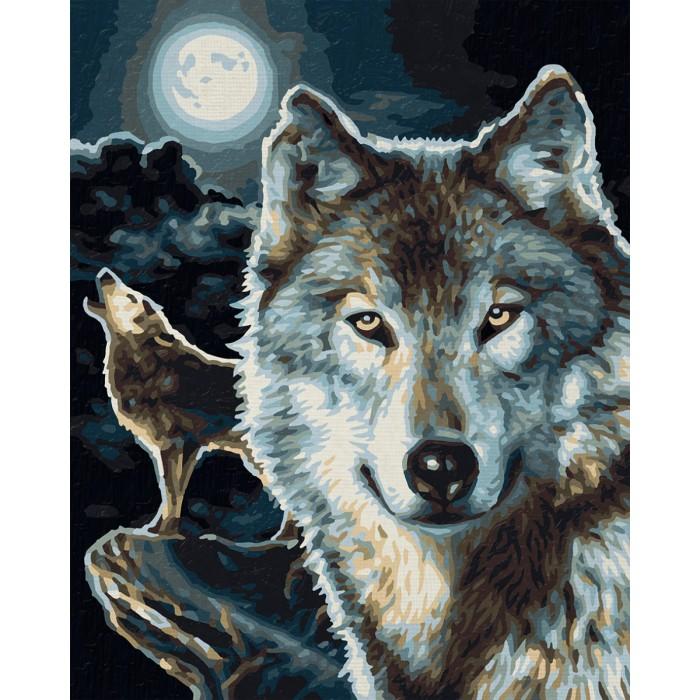 Картины по номерам Schipper Картина по номерам Волки 24х30 см