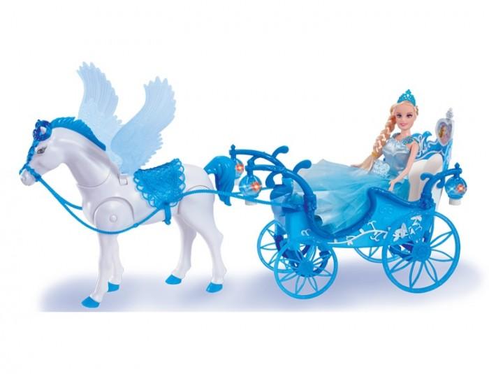 Girls Club Карета с куклой и с ходячей лошадкой