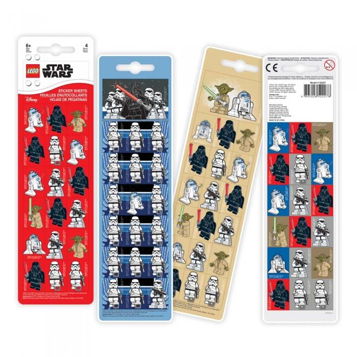 Детские наклейки Lego Star Wars Набор стикеров 4 шт. набор стикеров trampulina
