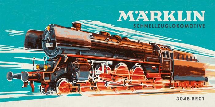 Schipper Картина по номерам Marklin - Паровоз 25х50 см фото