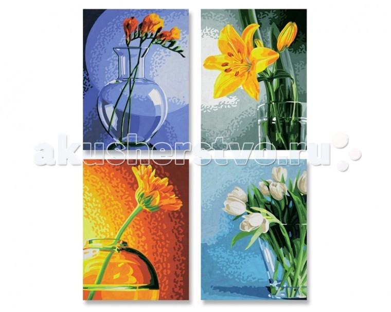 Картины по номерам Schipper Картина по номерам 4 шт. Цветы 18х24 см раскраски schipper спящая красавица 18х24 см