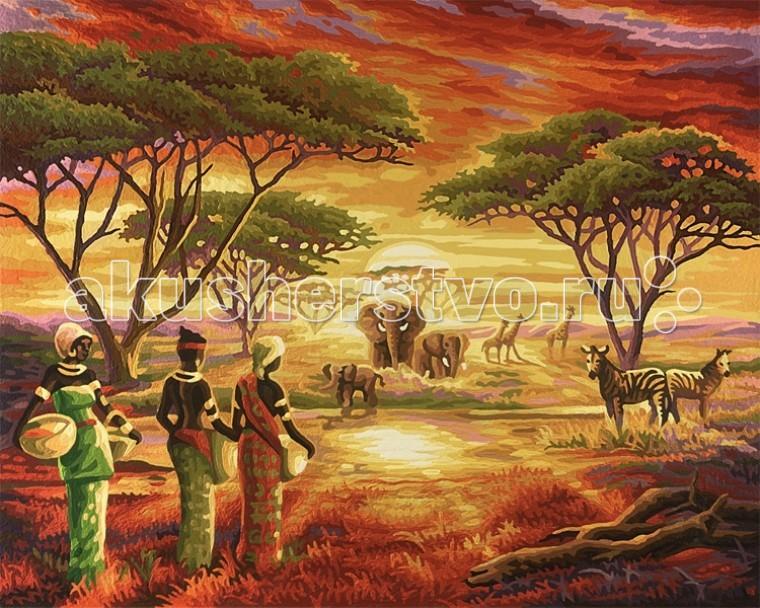 Картины по номерам Schipper Картина по номерам Африка 40х50 см