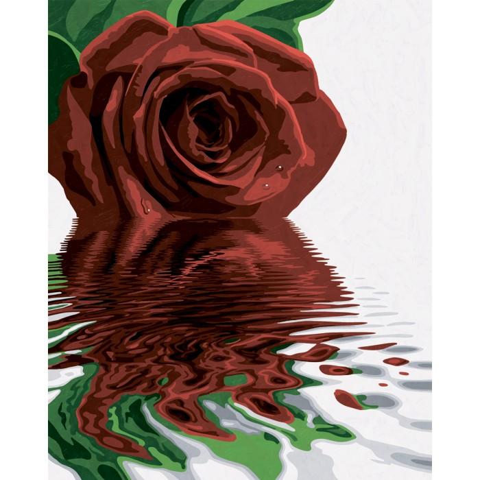 Купить Картины по номерам, Schipper Картина по номерам Красная роза 40х50 см