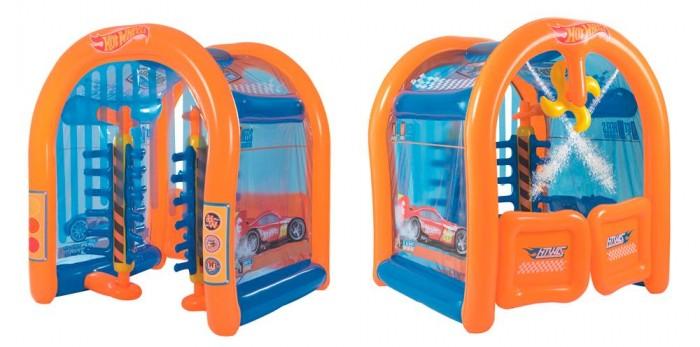Bestway Надувной игровой центр Автомойка Hot Wheels с брызгалкой бв93406
