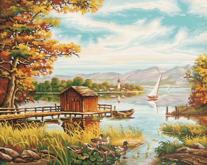 Картины по номерам Schipper Картина по номерам На берегу озера 40х50 см торшер kombi 1704 1f favourite kombi 1704 1f