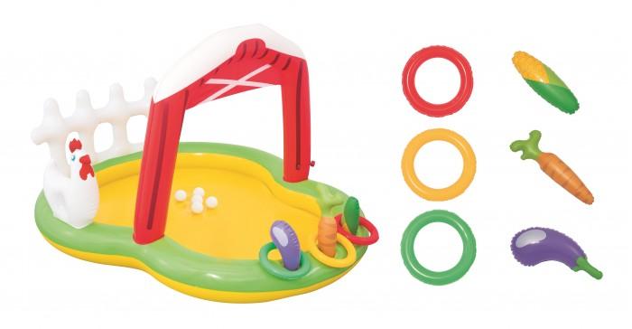 Bestway Надувной бассейн Ферма с брызгалкой и принадлежностями для игр