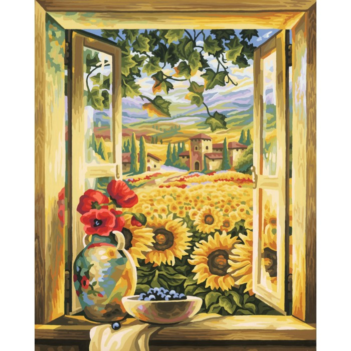 Schipper Картина по номерам Поле подсолнухов 40х50 см