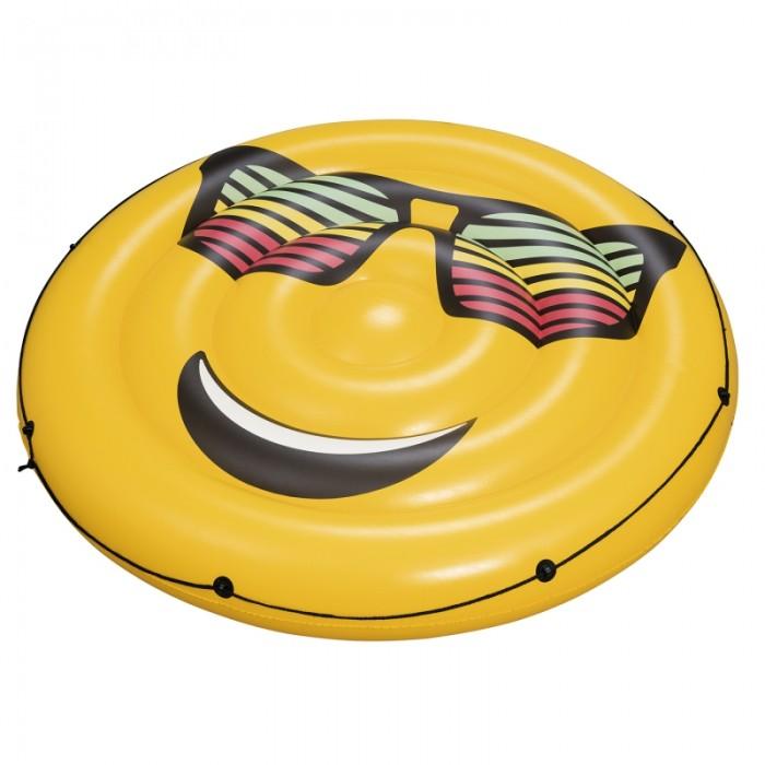 Bestway Надувной круглый матрас для плавания Смайл от Bestway