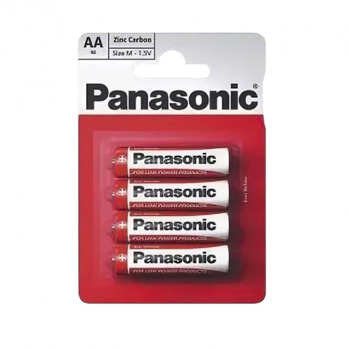 Электронные игрушки Panasonic Батарейка солевая R6 (AA) Zinc Carbon 1.5В 4 шт.