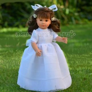 ASI Нелли 43 см 1250150Нелли 43 см 1250150Кукла ASI Нелли 43 см 1250150, роскошная брюнетка, в шикарном белоснежном платье невесты.  Кукла, ростом, 43 см, полностью сделана из винила. Она устойчиво стоит на ровных ногах.  Волосы длинные, прошитые, приближены по качеству к натуральным. Куклу без риска можно расчесывать и менять ей прически.  Ресницы у куклы тоже как настоящие: динные и пушистые.   Платье выполнено из дорогой органзы и украшено кружевом. На ногах изысканные лодочки. Волосы украшены белыми розочками и бантомм.  Особенности: Пупсик ASI сделан очень качественно.  Без запаха.  Производство Испания. Используется безопасный твердый винил.  Видна прорисовка мельчайших подробностей тела, рук и ног.<br>