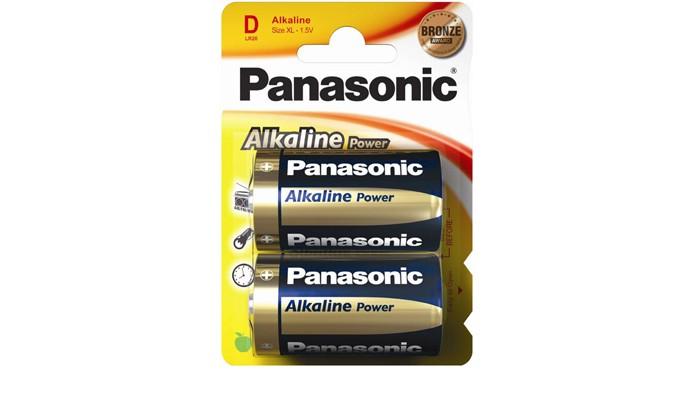 Батарейки, удлинители и переходники Panasonic Батарейка щелочная LR20 (D) Alkaline 1.5В 2 шт. батарея щелочная lr20 2b fu w w