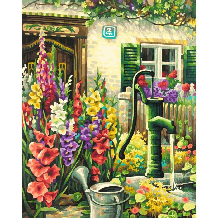 Творчество и хобби , Картины по номерам Schipper Картина по номерам Цветник у дома 40х50 см арт: 67381 -  Картины по номерам