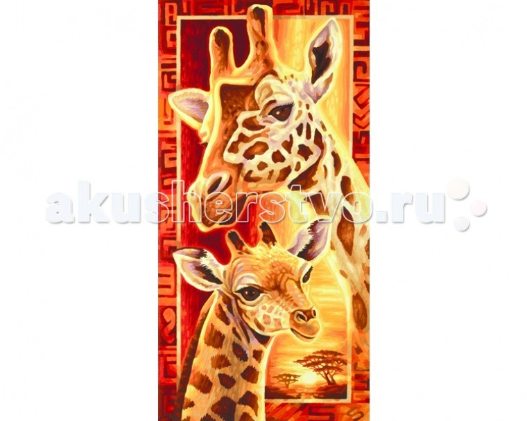 Schipper Картина по номерам Жирафы 40х80 см